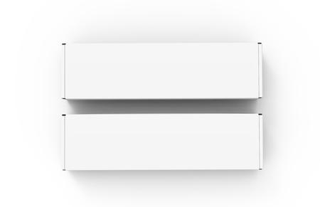 빈 종이 상자를 모의, 디자인에 사용하기 위해 포장 요소 3d 렌더링, 두 상자 스톡 콘텐츠