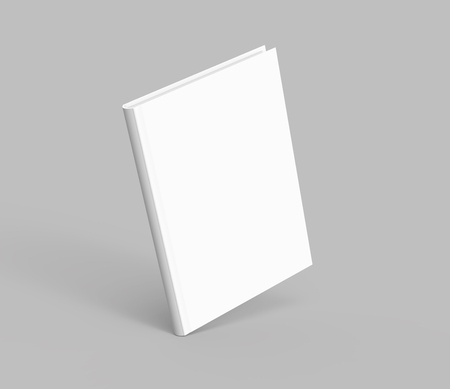 Hardcover book template, blank book mockup floating in the air for design uses, 3d rendering Stock Photo