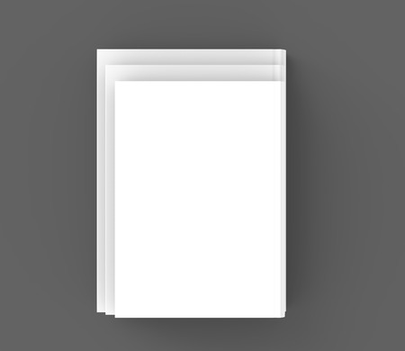 Hardcover books template, top view of blank books mockup for design uses, 3d rendering Zdjęcie Seryjne