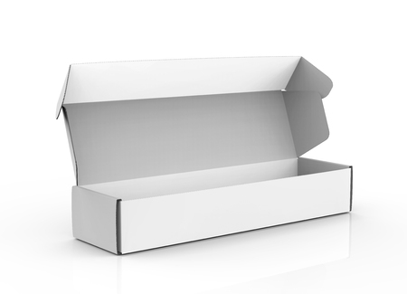 Blank paper box mock up, packaging elements for design uses in 3d rendering, open box