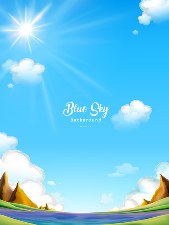 Blue sky background design, clear and attractive outdoor landscape.