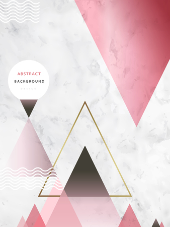 Abstract background design, elegant wallpaper for design uses with triangular elements on marble texture.