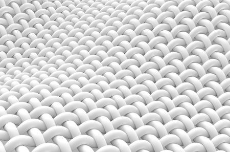 Primer plano de la fibra entrelazada, fibra curva con superficie lisa, renderizado 3d Foto de archivo