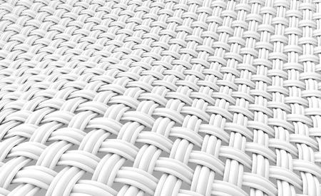 クローズ インター レース繊維、湾曲した 3 d レンダリング内の複数のスレッドで構成を見てアップ