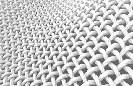 Sluit omhoog bekijken dooreengevlochten vezel, verdraaide kabelvezel in het 3d teruggeven