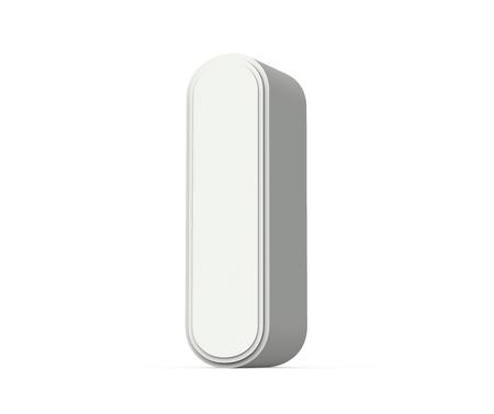 right tilt white letter I, 3D rendering graphic isolated on white background