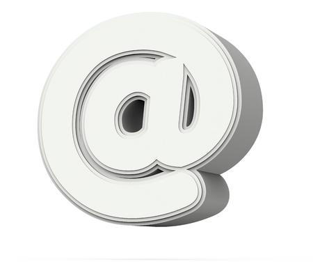 wit op merk, 3D-rendering grafisch geïsoleerd op een witte achtergrond