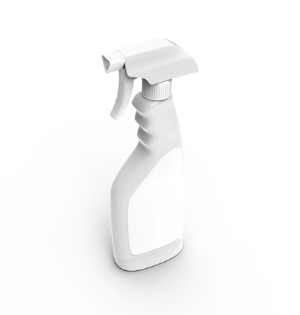 Glass Cleaner mockup, 3d rendering spray bottle template with blank label