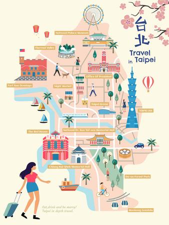 Taipei city map.