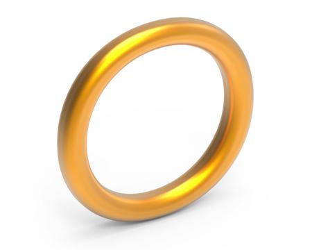 3D rinden el alfabeto metálico O, diseño de fuente de oro 3D fino y brillante Foto de archivo - 88746367