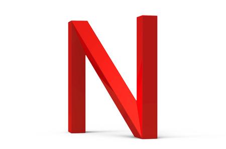 3d render rouge biseauté alphabet rétro rétro conception de police rétro Banque d'images - 88746538