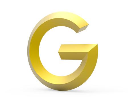 3D rinden el alfabeto biselado de oro G, diseño retro de la fuente 3D Foto de archivo - 88747956