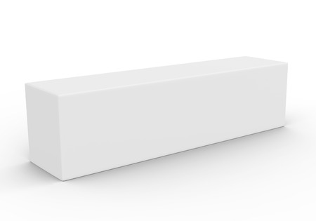 Paper box mockup, blank gift box in 3d render 스톡 콘텐츠