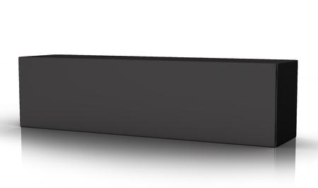 치약 패키지 mockup, 빈 검은 튜브 상자에서 3d 렌더링 스톡 콘텐츠