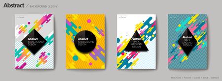 Conception de fond abstrait, conception de style géométrique memphis dans un ton coloré Banque d'images - 88783617