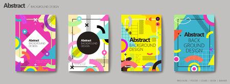 Design de fond abstrait, design de style géométrique memphis dans des tons colorés Banque d'images - 88783622