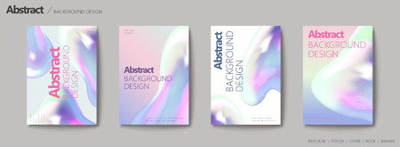 Abstract background design, fluid colors set for design uses.