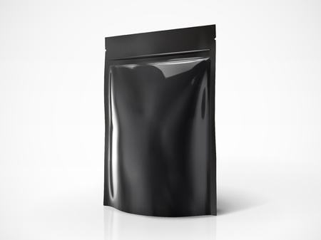 Leeg doy pakmodel, zwart kleurenpakket voor ontwerpgebruik in 3d illustratie