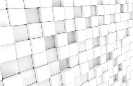 白丸みを帯びたキューブの背景、3d レンダリングでの抽象的な空白の壁紙