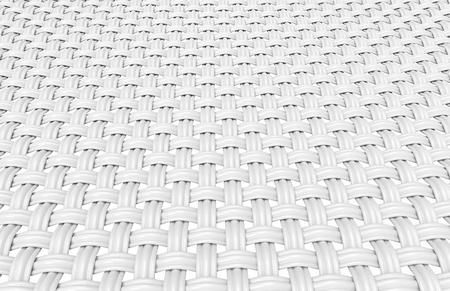 インターレースファイバー要素、3d レンダリングで複数のスレッドで構築された湾曲繊維