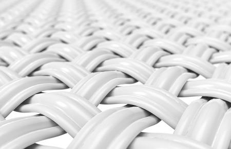 接写ファイバー, 3d レンダリングで複数のスレッドで構築された曲線ファイバー 写真素材
