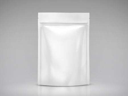 빈 호 일 가방 mockup, 흰색 패키지 디자인 사용 3d 그림