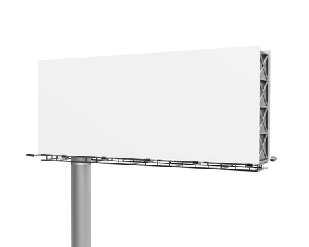 3D rendering billboard, close up look at blank outdoor advertising board for marketing uses Stock Photo