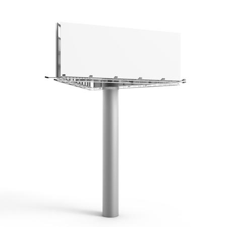 3D rendering billboard, blank outdoor advertising board for marketing uses, triangle billboard Stock Photo