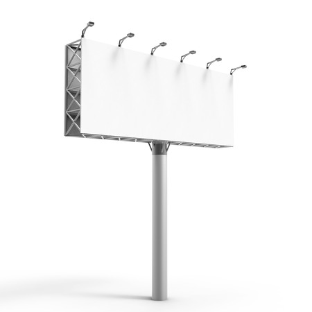 3D rendering billboard, blank outdoor advertising board for marketing uses Stock Photo