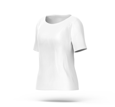 Elbow Length Shirt Mockup, Blank White Cloth Template For Women ...