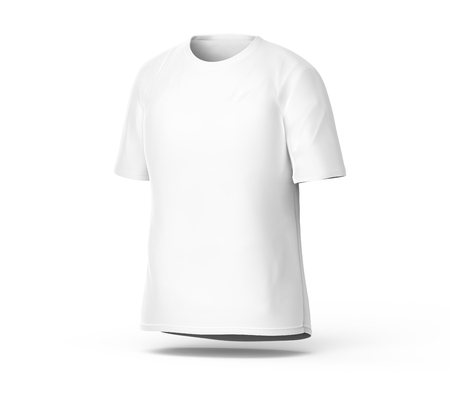Crew Neck T-shirt, Blank White Cloth Template For Men With Invisible ...