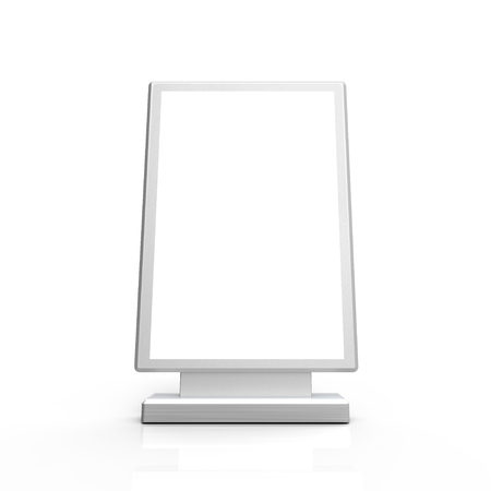 Rectangle light box mockup, 3d rendering sign board template for advertising uses