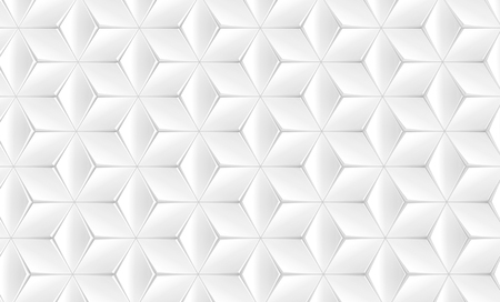 Elegant white geometric background, polygonal matte texture pattern in 3d render, top view