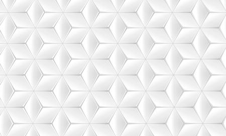 Elegant white geometric background, polygonal matte texture pattern in 3d render, top view