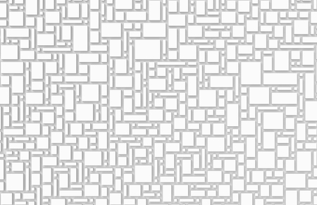 White urban background, squares and cubes shape pattern in 3d render, top view Stock fotó - 93486112