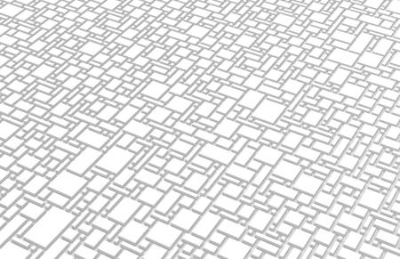 Weißer städtischer Hintergrund, Quadrate und Würfel formen Muster in 3d übertragen Standard-Bild - 93486114