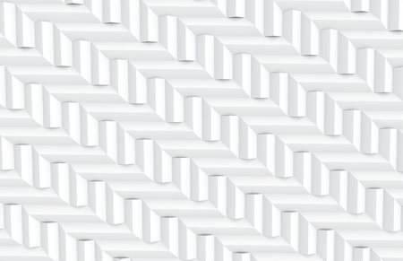 White geometric background, 3d render Prism triangle shapes pattern, top view