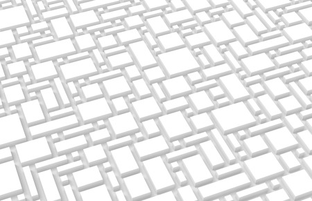 White urban background, squares and cubes shape pattern in 3d render Stock fotó - 93486182