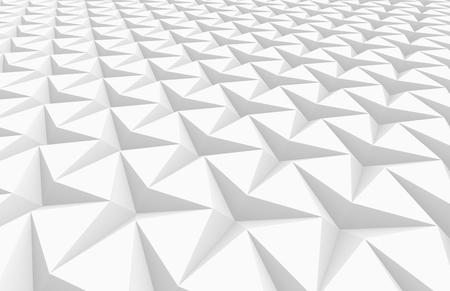 De witte drie gerichte 3d sterachtergrond, geeft abstracte patroon opgeheven mening terug, omhoog sluit Stockfoto