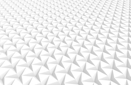 De witte drie gerichte 3d sterachtergrond, geeft abstracte patroon opgeheven mening terug Stockfoto