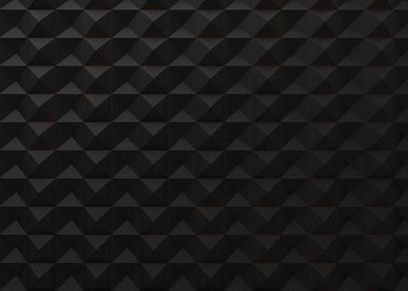 Black geometric background, rhombus decorative 3d render wallpaper