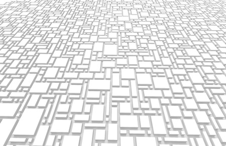 White urban background, squares and cubes shape pattern in 3d render Stock fotó - 93486216