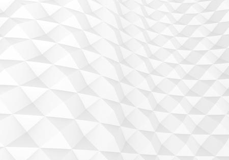 White geometric background, rhombus decorative 3d render wallpaper