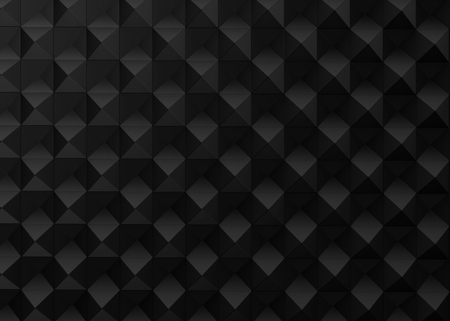 Black geometric background, cubes pattern in 3d render Фото со стока