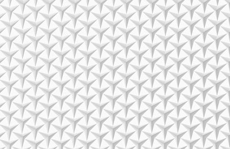 De witte drie gerichte 3d sterachtergrond, geeft abstracte patroon hoogste mening terug