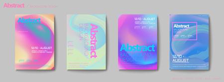 Vloeibare vloeibare stijlbrochure, pastelkleurmix achtergrondvliegerontwerp