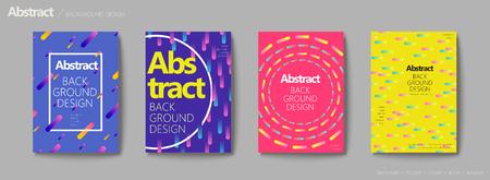 Fluid liquid style brochure, trendy and colorful geometric elements design set