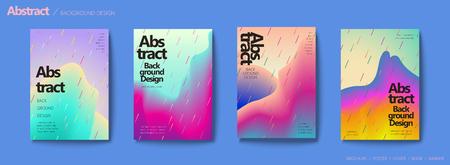 Fluid liquid style brochure, pastel color mix with geometric elements