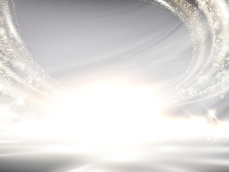 Glittering pearl white background, elegant wavy light effect for design uses in 3d illustration