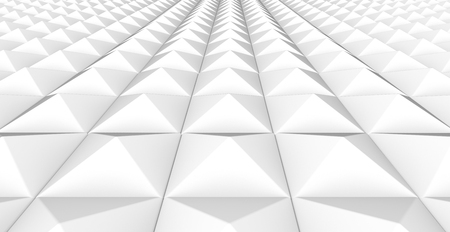 Geometric grid background, white 3d render triangle pattern for design uses